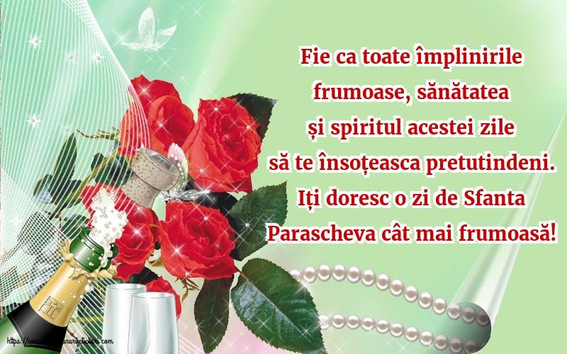 Cele mai apreciate felicitari de Sfanta Parascheva - Iți doresc o zi de Sfanta Parascheva cât mai frumoasă!