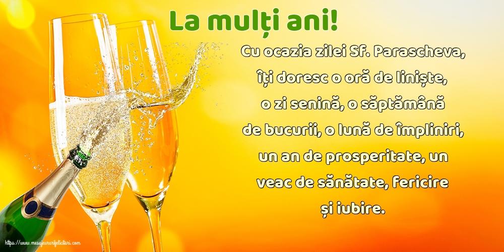 Felicitari de Sfanta Parascheva cu mesaje - La mulți ani!