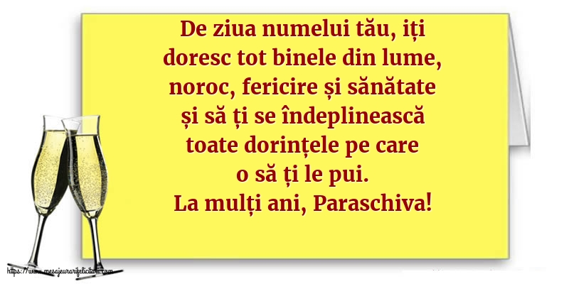 Felicitari de Sfanta Parascheva cu mesaje - La mulți ani, Paraschiva!