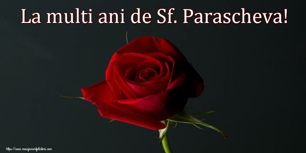 Felicitari de Sfanta Parascheva cu flori - La multi ani de Sf. Parascheva!