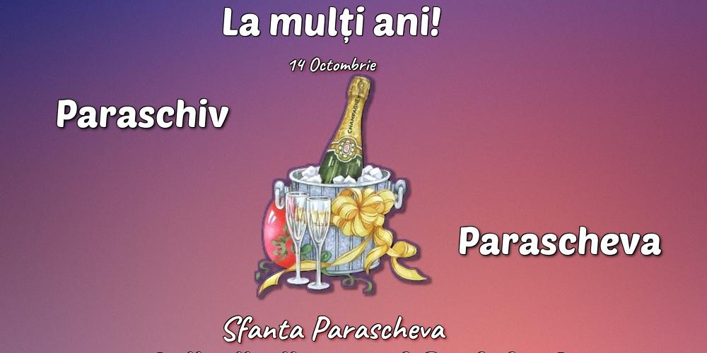 Felicitari de Sfanta Parascheva cu sampanie - 14 Octombrie - Sfanta Parascheva