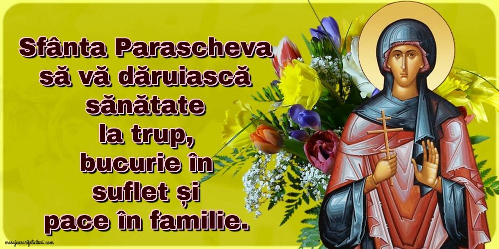 Cele mai apreciate felicitari de Sfanta Parascheva - 14 octombrie Sfanta Cuvioasa Parascheva de la Iasi