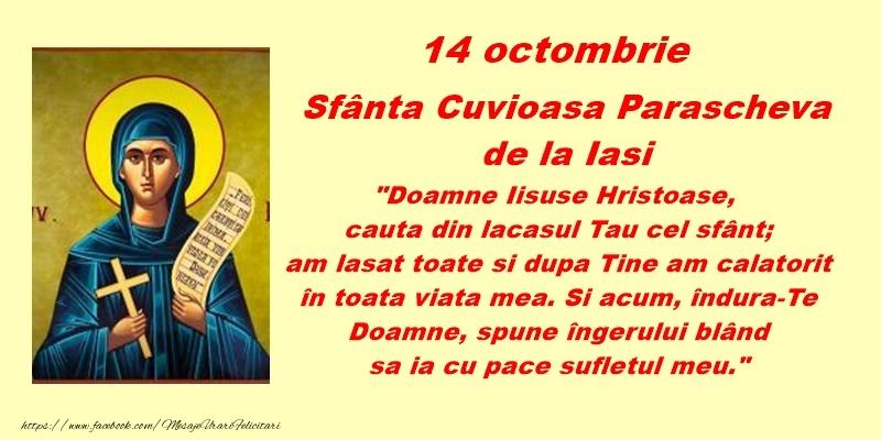 Sfanta Parascheva 14 octombrie Sfanta Cuvioasa Parascheva de la Iasi