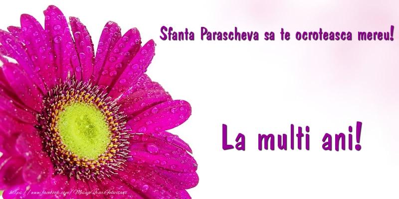 Cele mai apreciate felicitari de Sfanta Parascheva - Sfanta Parascheva sa te ocroteasca mereu! La multi ani!
