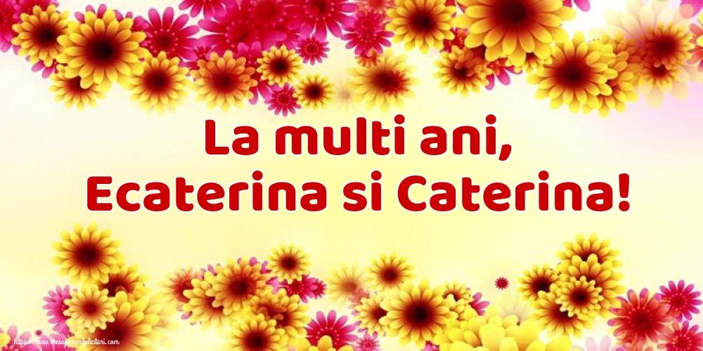 La multi ani, Ecaterina si Caterina!
