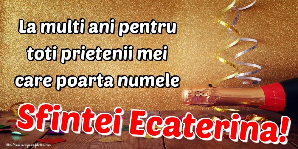 Felicitari de Sfanta Ecaterina - La multi ani pentru toti prietenii mei care poarta numele Sfintei Ecaterina!
