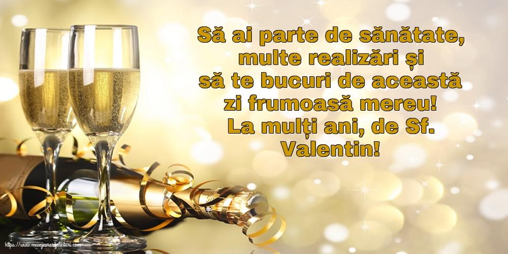 Felicitari de Sfantul Valentin - La mulți ani, de Sf. Valentin!
