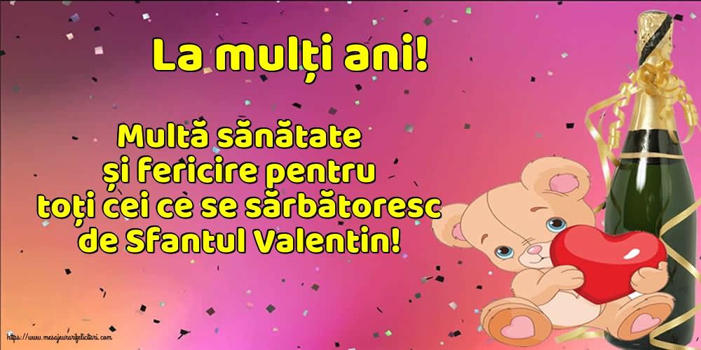 Felicitari de Sfantul Valentin - La mulți ani!
