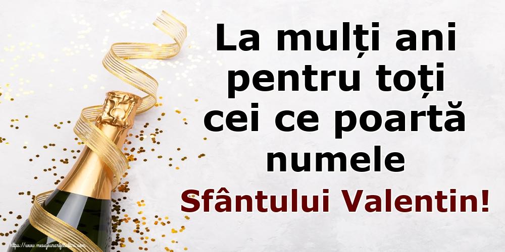 Felicitari de Sfantul Valentin - La mulți ani pentru toți cei ce poartă numele Sfântului Valentin!