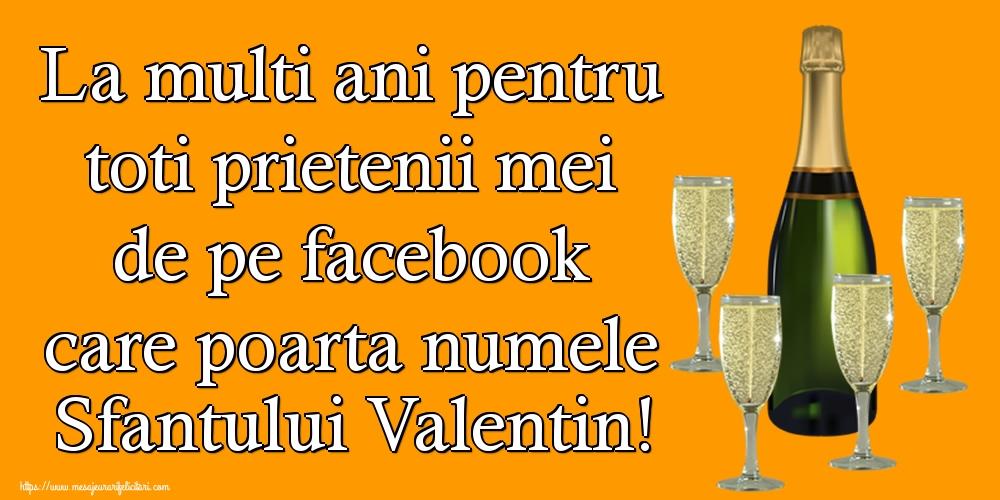 La multi ani pentru toti prietenii mei de pe facebook care poarta numele Sfantului Valentin!