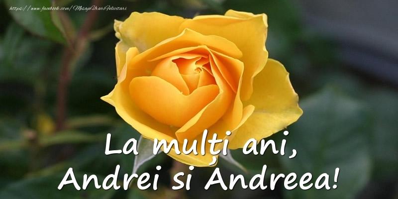 Felicitari de Sfantul Andrei - La multi ani, Andrei si Andreea!