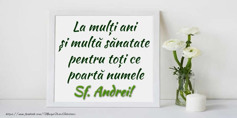 Felicitari de Sfantul Andrei - La multi ani  si multa sanatate pentru toti ce poarta numele Sf. Andrei!