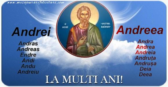 Felicitari de Sfantul Andrei - La mulți ani! Sf. Andrei sa te ocroteasca mereu!