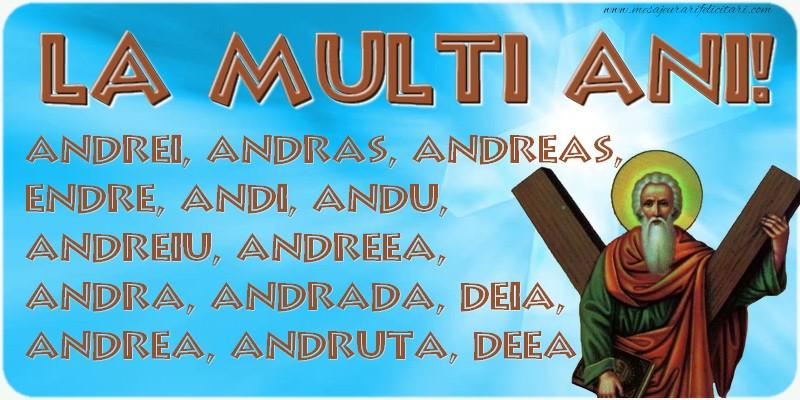 Cele mai apreciate felicitari de Sfantul Andrei - La multi ani