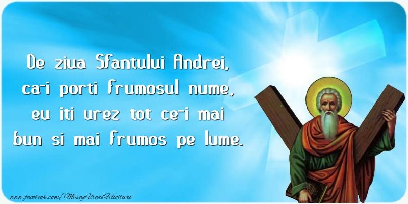 Felicitari de Sfantul Andrei - De ziua Sfantului Andrei