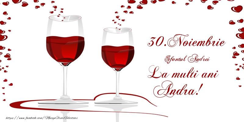 Felicitari de Sfantul Andrei - 30.Noiembrie La multi ani Andra!