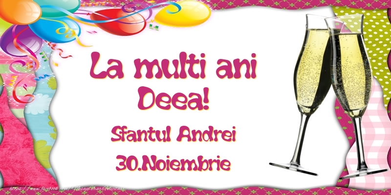 Felicitari de Sfantul Andrei - La multi ani, Deea! Sfantul Andrei - 30.Noiembrie