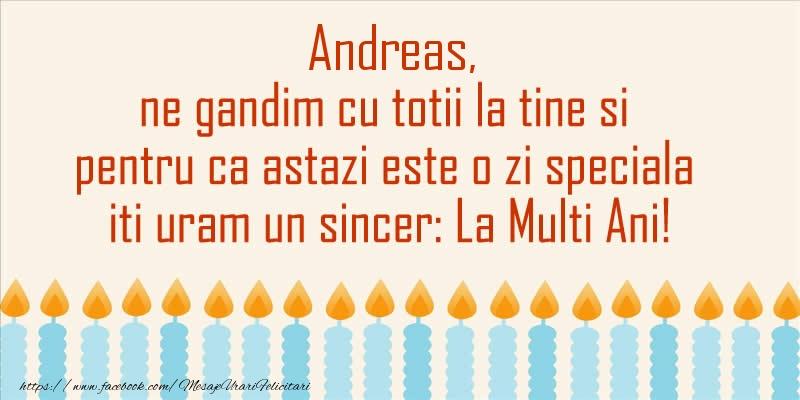 Felicitari de Sfantul Andrei - Andreas, ne gandim cu totii la tine si pentru ca astazi este o zi speciala iti uram un sincer La Multi Ani!