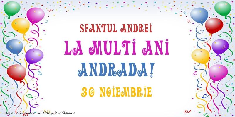 Cele mai apreciate felicitari de Sfantul Andrei - La multi ani Andrada! 30 Noiembrie