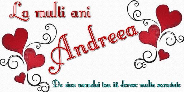 Felicitari de Sfantul Andrei - La multi ani Andreea De ziua numelui iti doresc multa sanatate