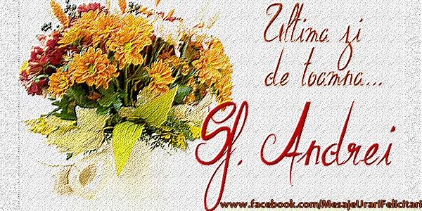 Cele mai apreciate felicitari de Sfantul Andrei - Ultima zi de toamna ... Sf. Andrei