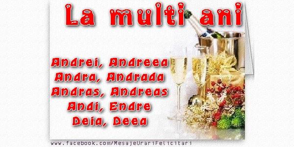 Cele mai apreciate felicitari de Sfantul Andrei - La multi ani Andrei, Andreea, Andra, Andrada, Andras, Andreas, Andi, Endre, Deia, Deea