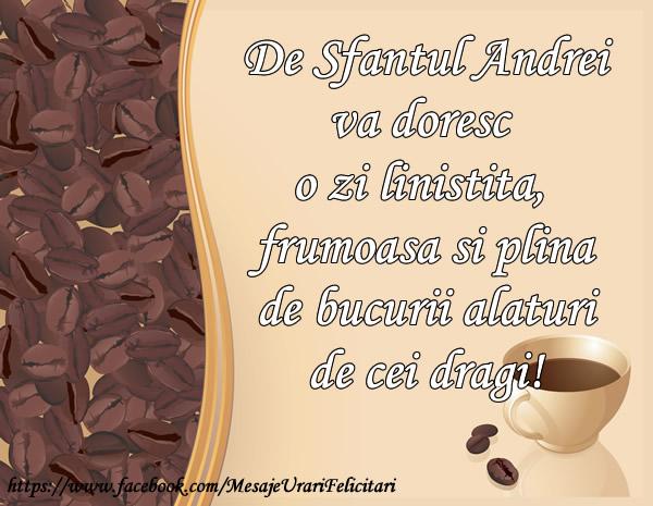 Cele mai apreciate felicitari de Sfantul Andrei - De Sfatul Andrei va doresc o zi linstita si plina de bucurii alaturi de cei dragi!