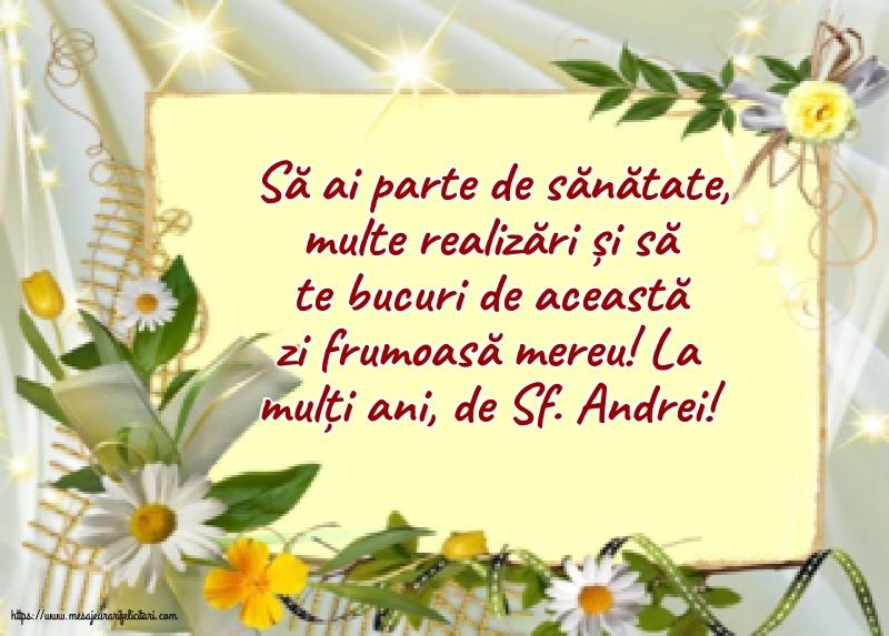 Felicitari de Sfantul Andrei cu mesaje - La mulți ani, de Sf. Andrei!