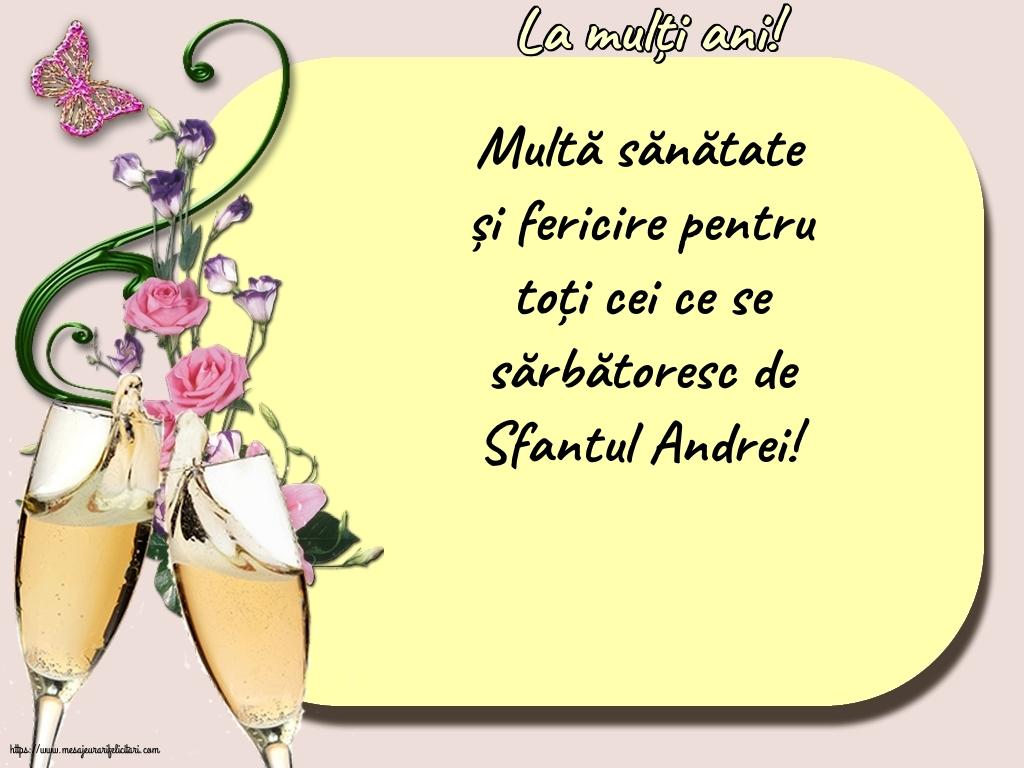 Cele mai apreciate felicitari de Sfantul Andrei - La mulți ani!