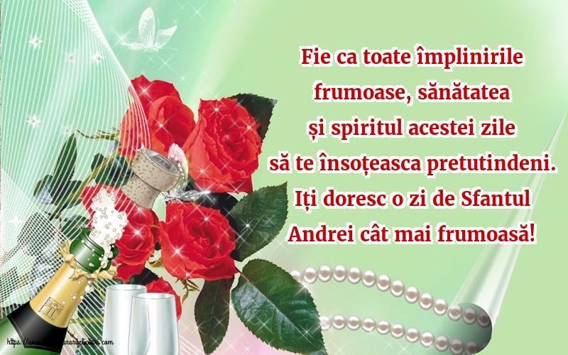 Felicitari de Sfantul Andrei cu mesaje - Iți doresc o zi de Sfantul Andrei cât mai frumoasă!