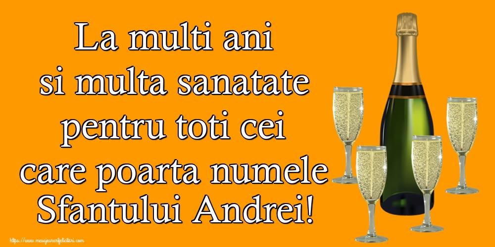 Felicitari de Sfantul Andrei - La multi ani si multa sanatate pentru toti cei care poarta numele Sfantului Andrei!