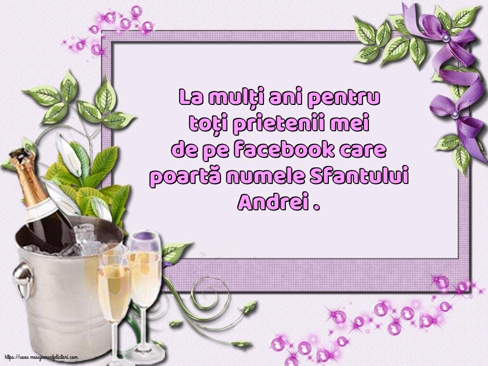 Felicitari de Sfantul Andrei cu mesaje - La mulți ani pentru toți prietenii mei de pe facebook
