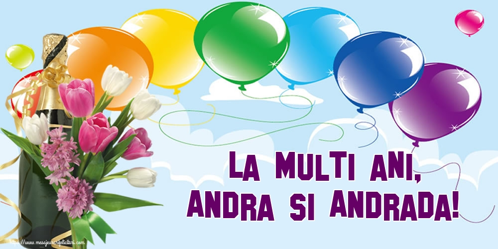 Felicitari de Sfantul Andrei - La multi ani, Andra si Andrada!