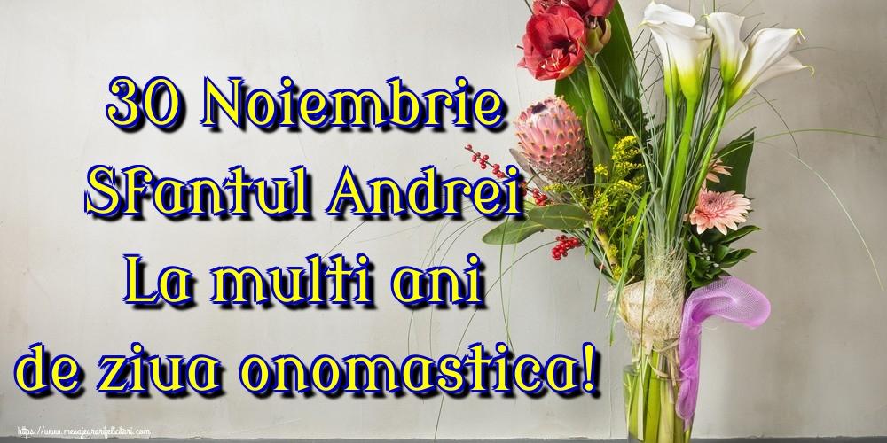 Cele mai apreciate felicitari de Sfantul Andrei - 30 Noiembrie Sfantul Andrei La multi ani de ziua onomastica!