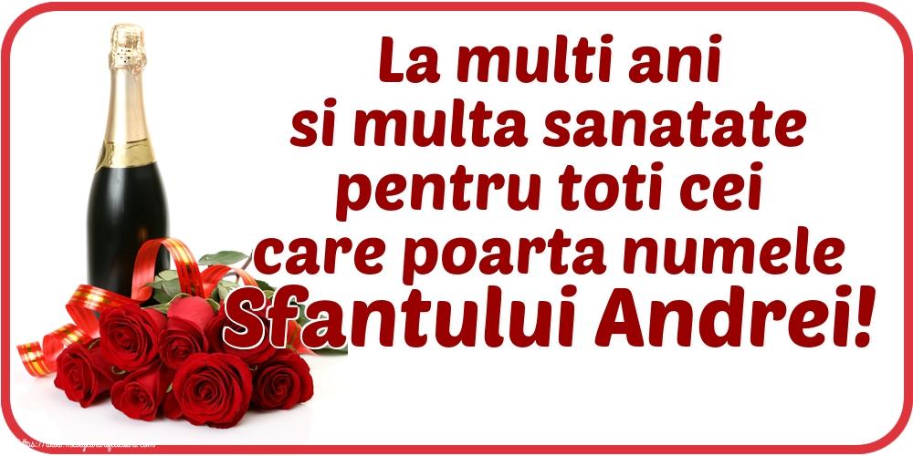 Cele mai apreciate felicitari de Sfantul Andrei - La multi ani si multa sanatate pentru toti cei care poarta numele Sfantului Andrei!