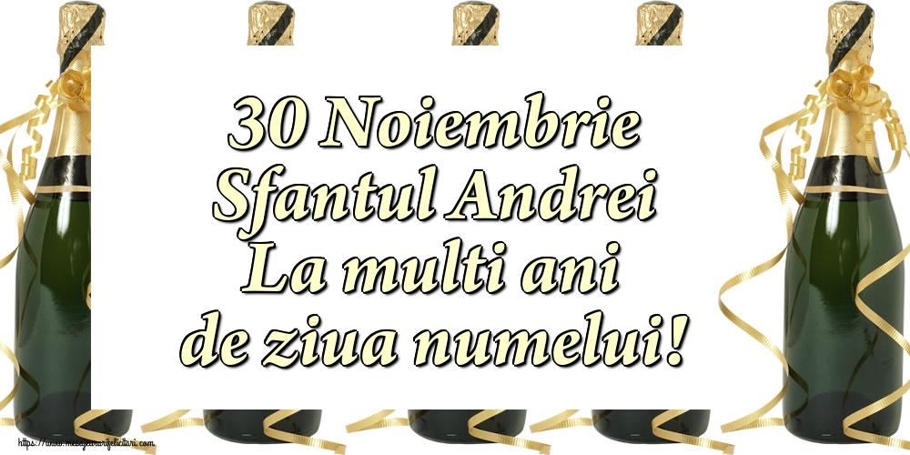 Felicitari de Sfantul Andrei cu sampanie - 30 Noiembrie Sfantul Andrei La multi ani de ziua numelui!