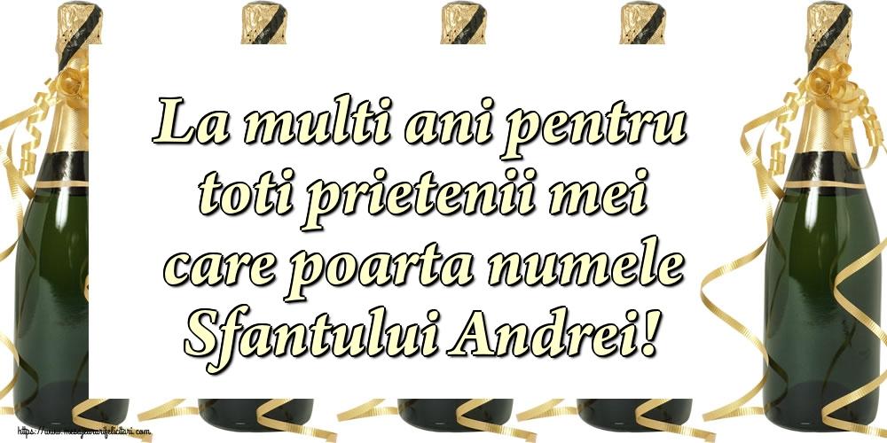 Cele mai apreciate felicitari de Sfantul Andrei - La multi ani pentru toti prietenii mei care poarta numele Sfantului Andrei!