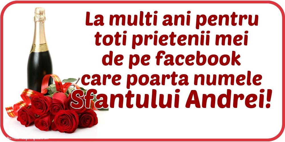 Felicitari de Sfantul Andrei - La multi ani pentru toti prietenii mei de pe facebook care poarta numele Sfantului Andrei! - mesajeurarifelicitari.com