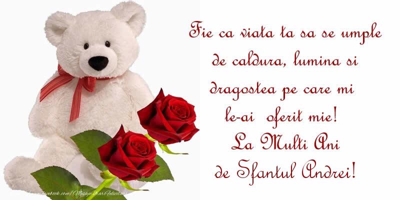 Cele mai apreciate felicitari de Sfantul Andrei - Fie ca viata ta sa se umple de caldura, lumina si dragostea pe care mi le-ai  oferit mie!  La Multi Ani de Sfantul Andrei!