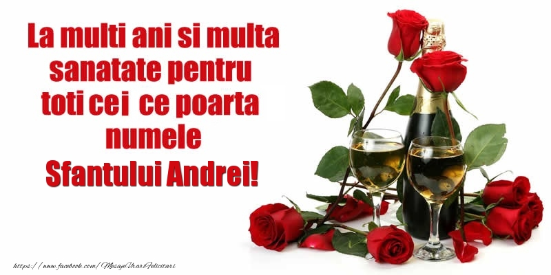 Felicitari de Sfantul Andrei - La multi ani si multa sanatate pentru toti ce poarta numele Sfantului Andrei! - mesajeurarifelicitari.com