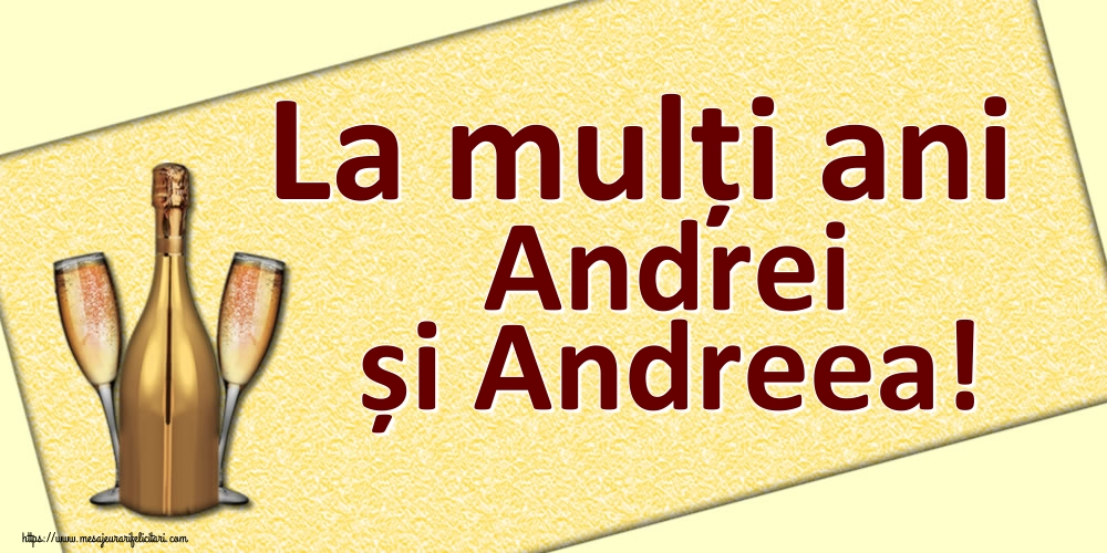 Cele mai apreciate felicitari de Sfantul Andrei - La mulți ani Andrei și Andreea!