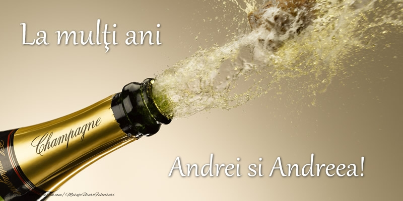 Felicitari de Sfantul Andrei - Andrei si Andreea