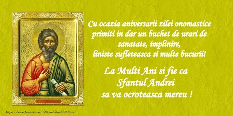 Felicitari de Sfantul Andrei - La multi ani si fie ca sfantul Andrei sa va ocroteasca mereu! - mesajeurarifelicitari.com