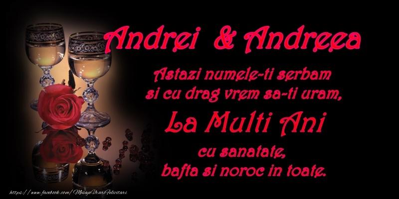 Felicitari de Sfantul Andrei - Andrei si Andreea -  La multi ani