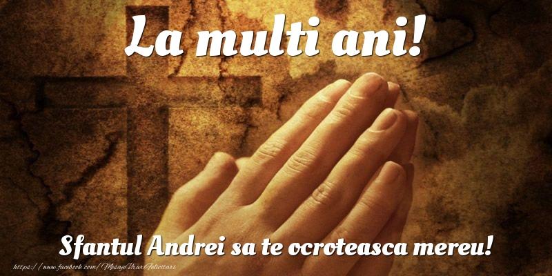 Felicitari de Sfantul Andrei - La multi ani! Sfantul Andrei sa te ocroteasca mereu!