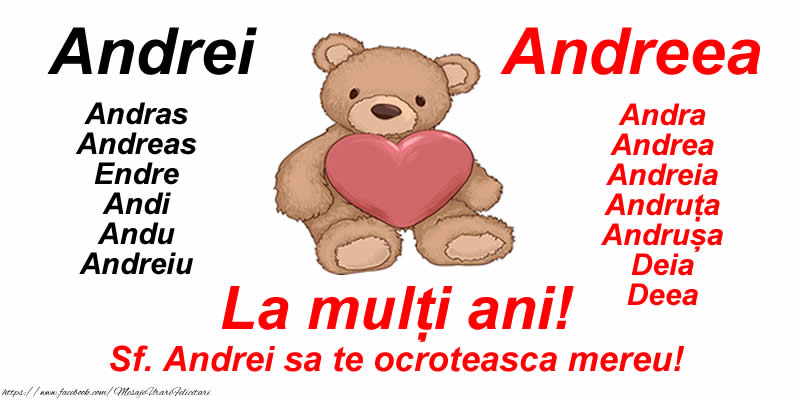 Sfantul Andrei La mulți ani! Sf. Andrei sa te ocroteasca mereu!