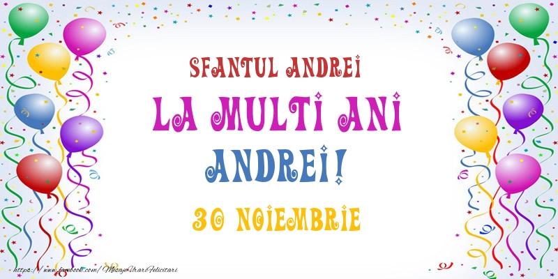 Cele mai apreciate felicitari de Sfantul Andrei - La multi ani Andrei! 30 Noiembrie