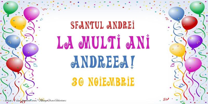 Cele mai apreciate felicitari de Sfantul Andrei - La multi ani Andreea! 30 Noiembrie