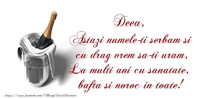 Cele mai apreciate felicitari de Sfantul Andrei - Deea Astazi numele-ti serbam si cu drag vrem sa-ti uram, La multi ani cu sanatate, bafta si noroc in toate.