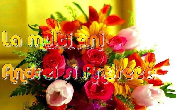 Felicitari de Sfantul Andrei - La multi ani Andrei si Andreea